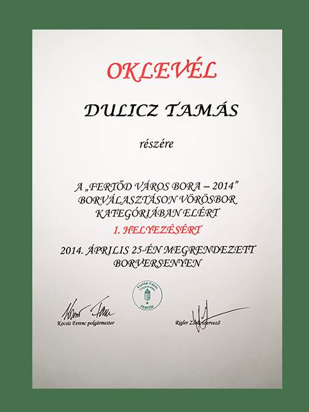 FERTŐD VÁROS BORA 2014.